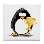 Trophy Winner Penguin Tile Coaster