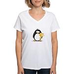 Trophy Winner Penguin Women's V-Neck T-Shirt