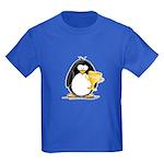 Trophy Winner Penguin Kids Dark T-Shirt