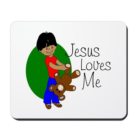 Jesus Loves Me Mousepad