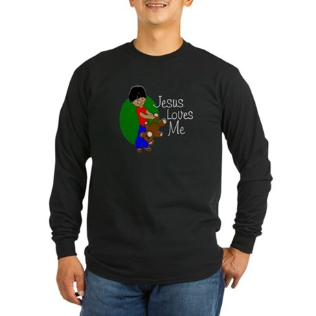 Jesus Loves Me Long Sleeve Dark T-Shirt