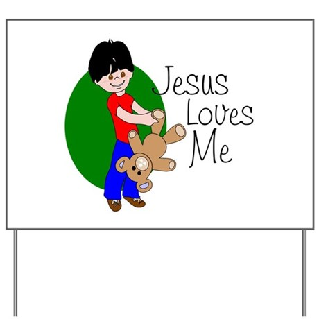 Jesus Loves Me Yard Sign