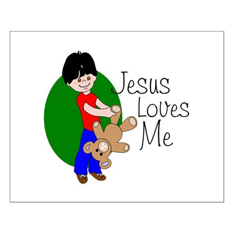 Jesus Loves Me Small Poster