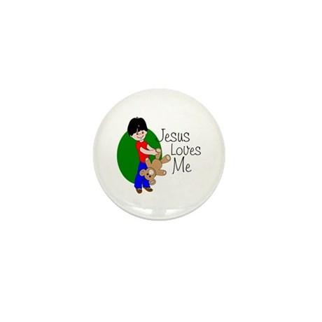 Jesus Loves Me Mini Button
