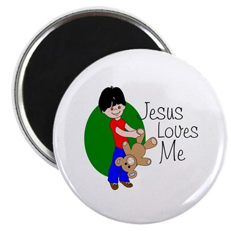 "Jesus Loves Me 2.25"" Magnet (10 pack)"