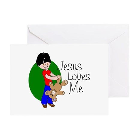 Jesus Loves Me Greeting Cards (Pk of 20)