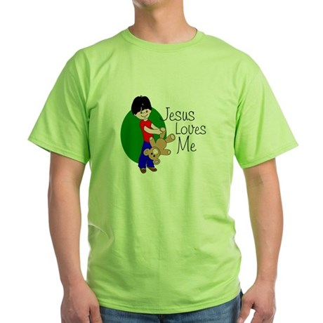 Jesus Loves Me Green T-Shirt