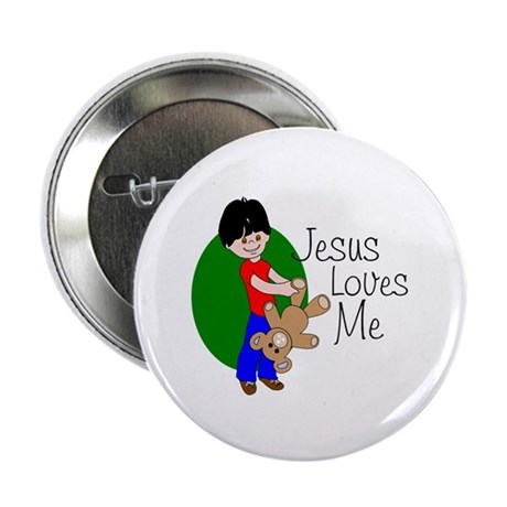 "Jesus Loves Me 2.25"" Button (100 pack)"