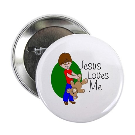 "Jesus Loves Me 2.25"" Button (10 pack)"