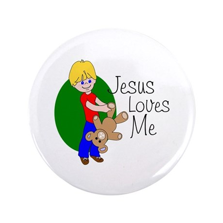 Jesus Loves Me 3.5&quot; Button