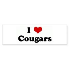 I Love Cougars Bumper Sticker (50 pk)