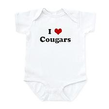 I Love Cougars Infant Bodysuit