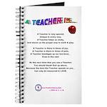 A TEACHER IS Journal