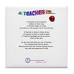 A TEACHER IS Tile Coaster