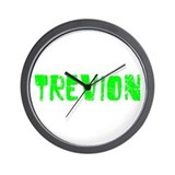 Trevion Faded (Green) Wall Clock