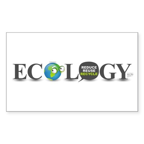 Ecology Rectangle Sticker 10 pk)