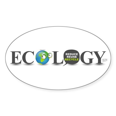 Ecology Oval Sticker (10 pk)