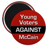 Young Voters Against McCain Magnet