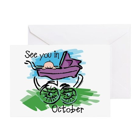 See You In October Greeting Card
