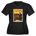 The Lost Trail Women's Plus Size V-Neck Dark T-Shi