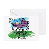 See You In March Greeting Cards (Pk of 20)