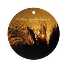 Jamaican Sunset Ornament (Round)