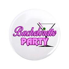 """Martini: Bachelorette Party 3.5"""" Button"""