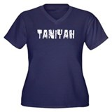 Taniyah Faded (Silver) Women's Plus Size V-Neck Da