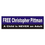 FREE Christopher Pittman Bumper Bumper Sticker