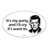 Kennedy - I'll Cry Oval Decal