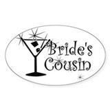 Blk C Martini Bride's Cousin Oval Decal