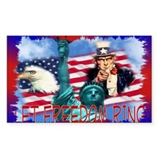 Let Freedom Ring Rectangle Decal