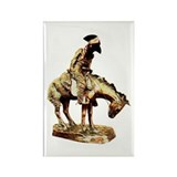 Man on a horse Rectangle Magnet