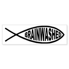 Brainwashed Fish Bumper Bumper Sticker