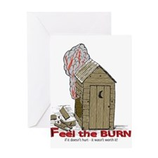 Out House Burn Greeting Card