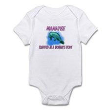 Manatee Trapped In A Woman's Body Infant Bodysuit