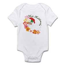 Santa Surrounded by Hibiscus Infant Bodysuit