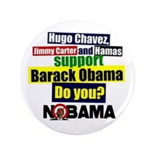 "Who supports Obama? 3.5"" Button (100 pack)"
