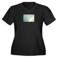 Cute Sky Women's Plus Size V-Neck Dark T-Shirt