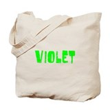 Violet Faded (Green) Tote Bag