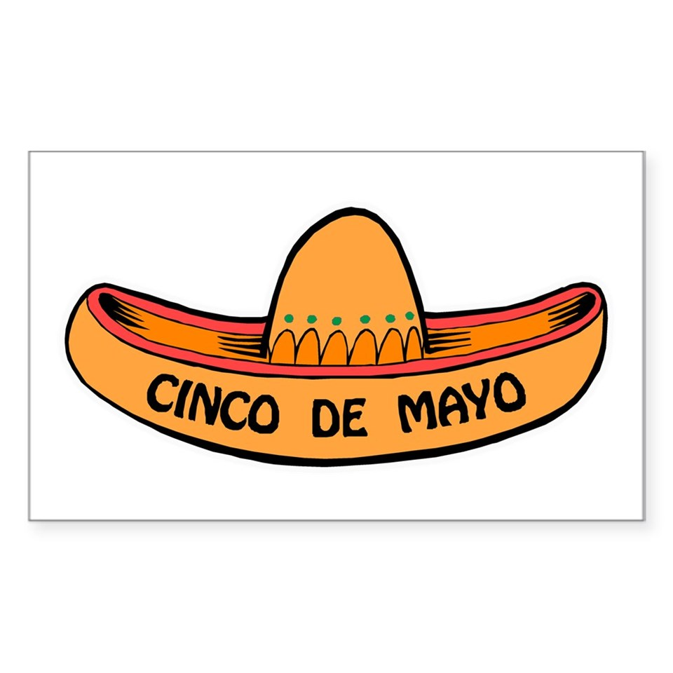 Cinco de mayo sombrero rectangle decal by sillyfunstuff