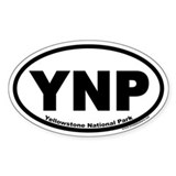 Yellowstone National Park YNP Euro Oval Decal