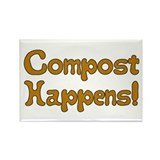 Compost Happens! Rectangle Magnet