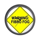 Warning: Fibro Fog Wall Clock