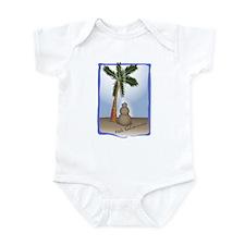 Palm Tree & Sand Woman Infant Bodysuit