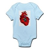 Pierced/tattooed heart Infant Creeper