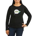 Think Green v3 Women's Long Sleeve Dark T-Shirt
