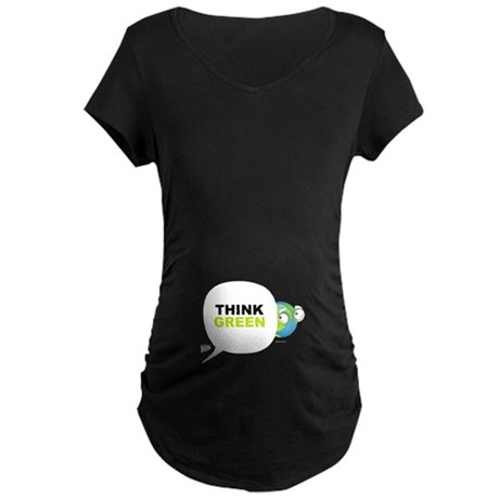 Think Green v3 Maternity Dark T-Shirt