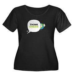 Think Green v3 Women's Plus Size Scoop Neck Dark T