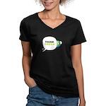 Think Green v3 Women's V-Neck Dark T-Shirt